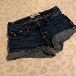 Abercrombie kids denim short shorts 16